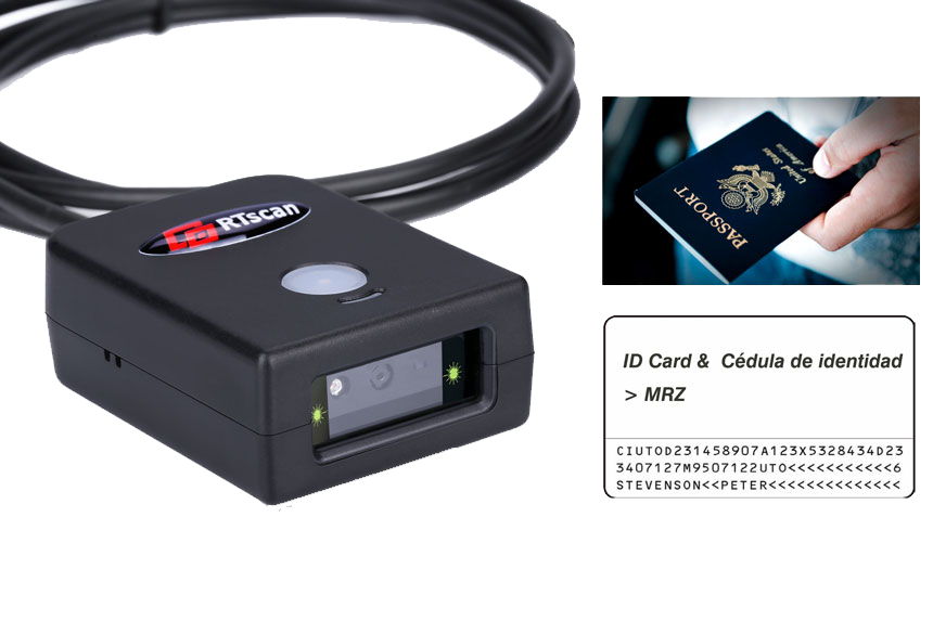 IDE237 Passport, ID  and Barcode Reader